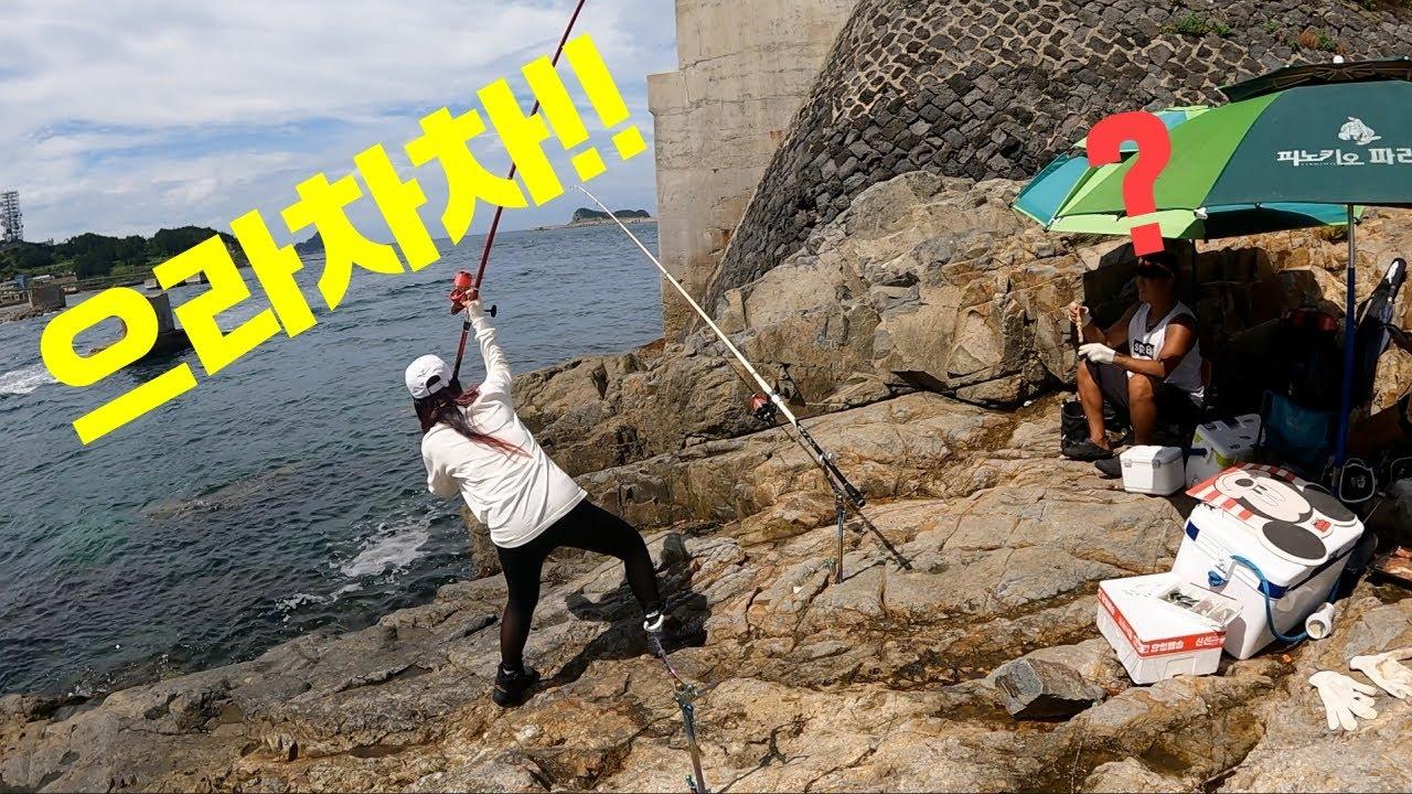 돌돔낚시 경력30년 고수와의 대결 Fishing battle
