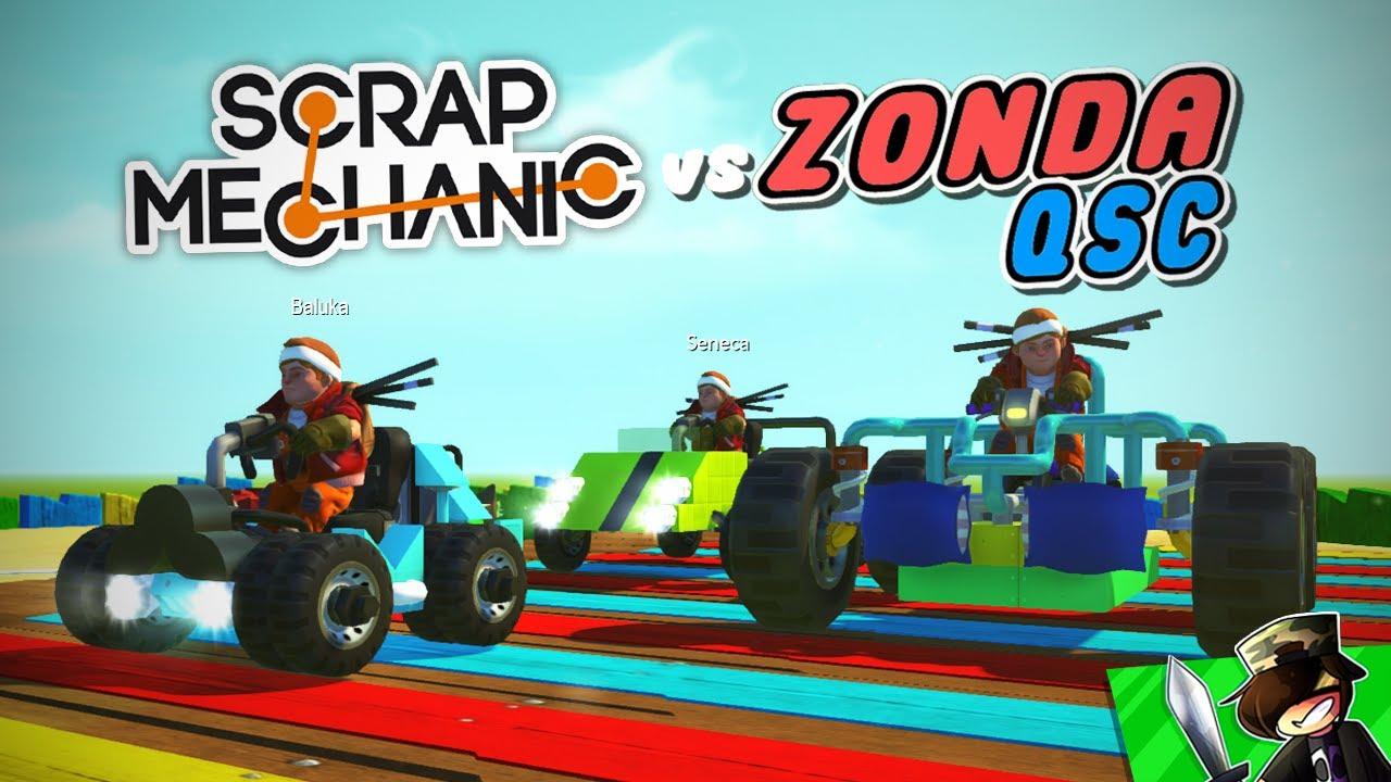 Q vs ZONDA vs BALUKA! - Scrap Mechanic: MARIO KART verseny! 🔥🏁