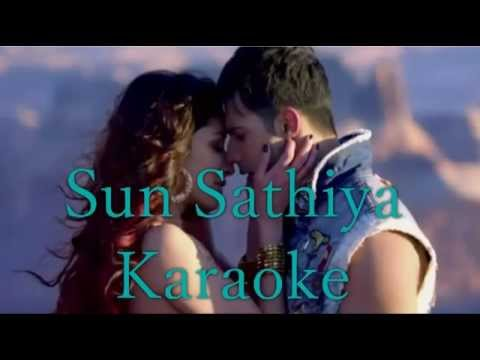 Sun Saathiya Karaoke ABCD2   Priya Saraiya, Divya Kumar   Dmusic Karaoke  