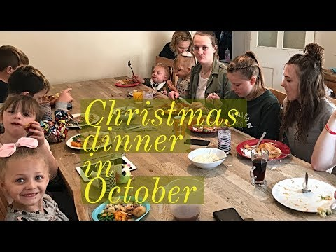 Christmas dinner in October Large family (guess the price )
