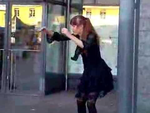 Dancing girl in Helsinki, Finland
