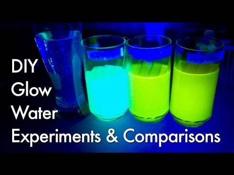 Part 1 Experiments with Fluorescence Glow Water, Polymer Balls ...