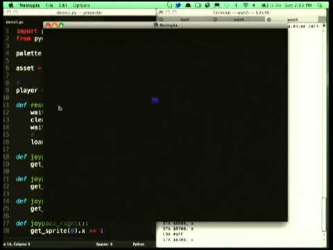 PyNES: Python programming for Nintendo 8 bits.