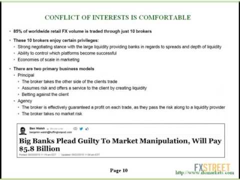 Sergey Kamenshikov, Ph.D.: FX brokerage: why the pure agent model is impossible. Hidden conflict...