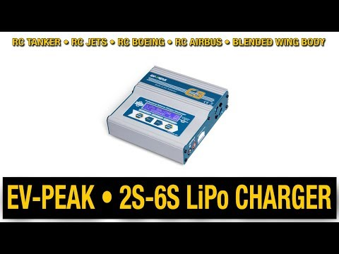 Unboxing EV-PEAK C3 LiPo Balance Charger for RC Airliner Jets (2S-6S)