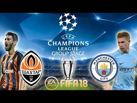 FIFA 18 Shakhtar Donetsk vs Manchester City | Champions League Group Stage 2017/18 | PS4 Full Match