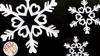 Easy Paper Snowflake DIY - Easy Kirigami DIY - How to make a paper snowflake craft