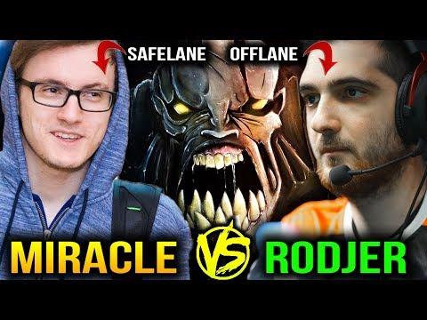 MIRACLE VS RODJER Safelane vs Offlane - ENDLESS BATTLE Dota 2