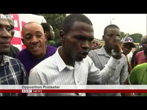 Protest of thousands in DR Congo turn violent   BBC News