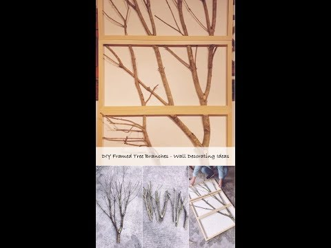 DIY Framed Tree Branches - Wall Decorating Ideas