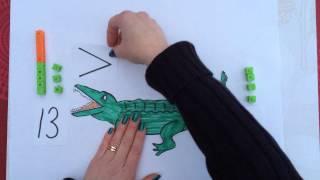 Större än och mindre än, med Krokodilen Karl, del 1