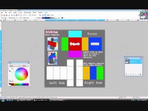 Roblox How to make a transparent Shirt (Paintnet) - YouTube