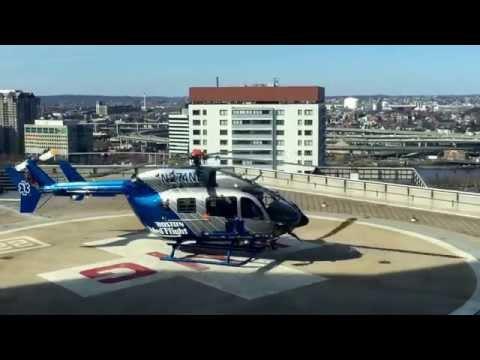 MedFlight taking off from Mass General Hospital