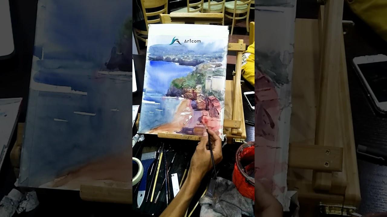 Vẽ màu nước cơ bản – 20 giờ học xong vẽ tranh màu nước
