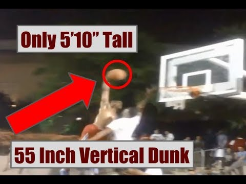 Streetballer Sir Issac Slams An Insane 55 Inch Vertical Dunk At Only 5 Feet 10 Inches Tall