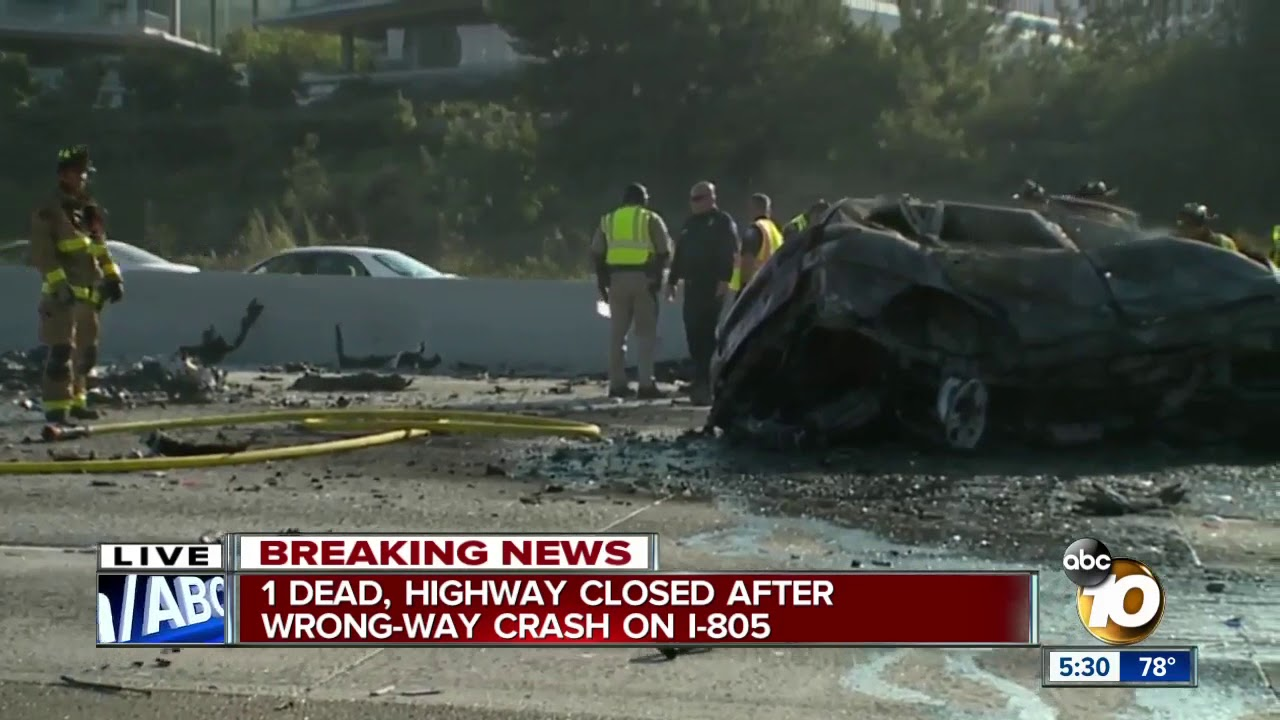 2 Dead Highway Closed After Wrong Way Crash On I 805