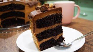 Шоколадный торт с арахисовым кремом - очень легкий и вкусный рецепт