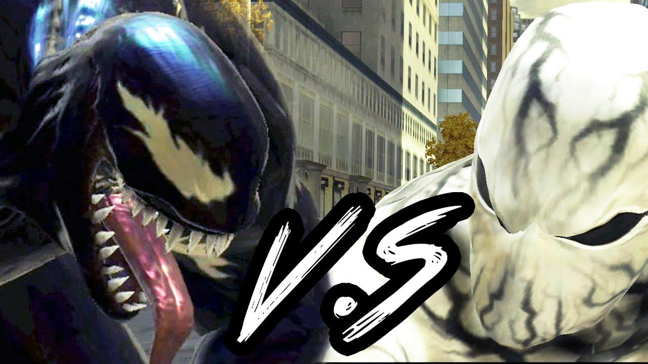 anti venom spider man vs venom battle spider man web of shadows