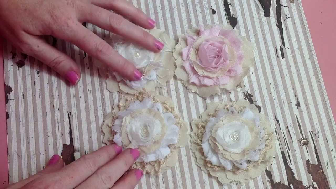 how to make shabby chic flowers youtube