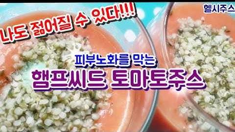 햄프씨드 토마토주스 만드는법 피부노화방지 아토피 동안피부 쥬스 만들기