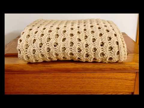 Left Hand: Simple Crochet Shell Afghan