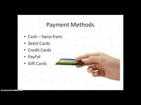 Payment Methods and Shipping in Switzerland