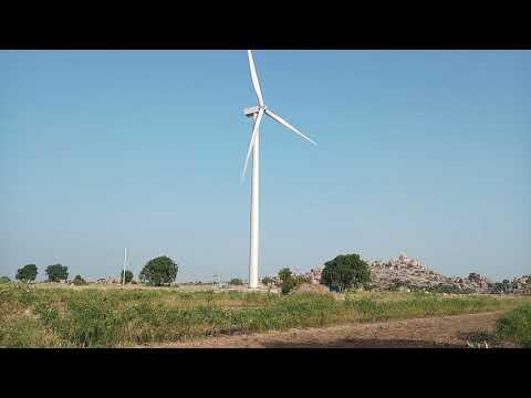 Wind Turbines for wind power generation at apsari village , kurnool dist, AP