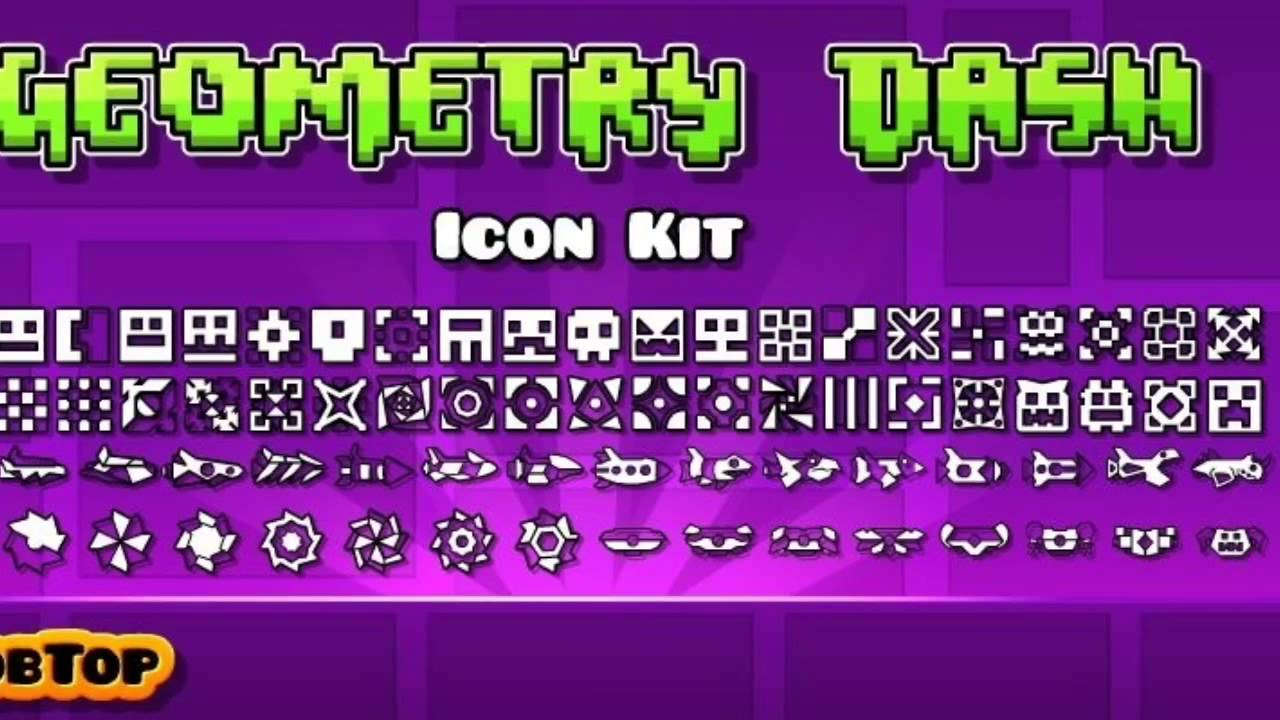 all geometry dash icons as of 18 robtops icon kit youtube - Geometry Dash Icon Coloring Pages