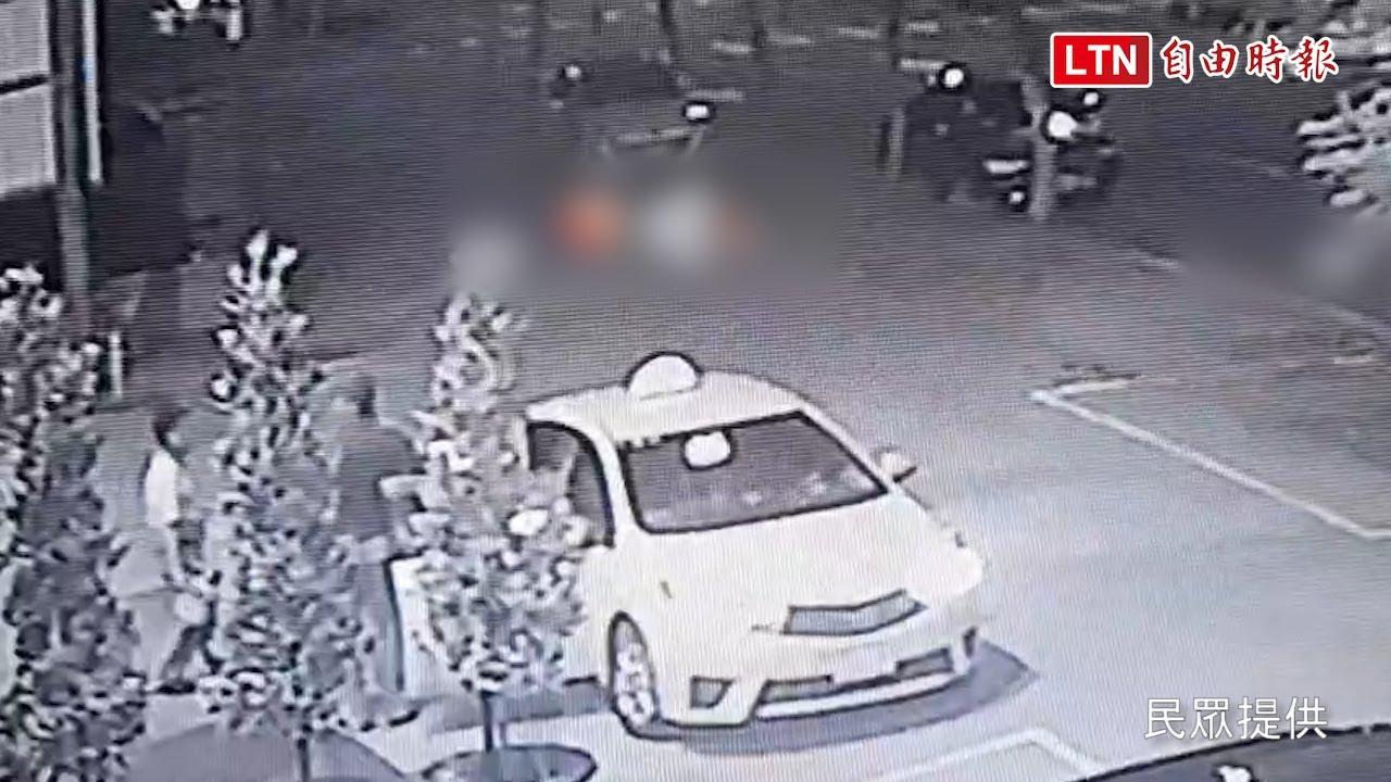 4船員搭計程車墜台中港 最後身影曝光 (台中海巡隊、民眾提供)