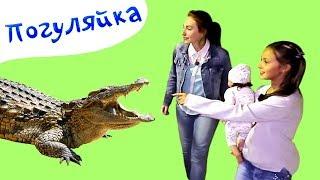 КРОКОДИЛ и ПИТОН - Погуляйка - Идем в ЗООПАРК - Поиграйка в Зоопарке