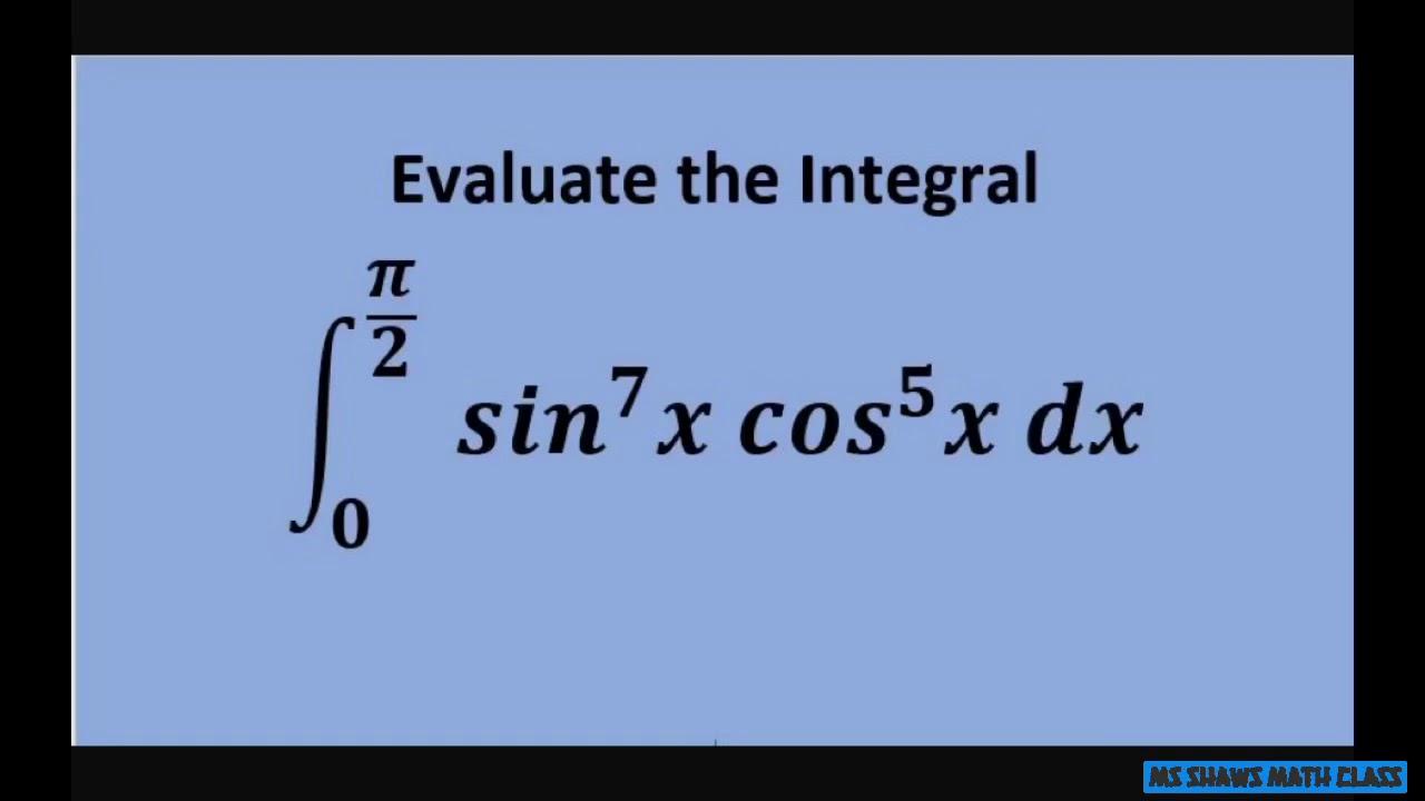evaluate the trigonometric definite integral with u substitution  example 3