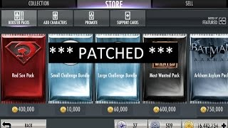 PATCHED(?) Injustice Mobile (glitch): Unlim packs, opening 40+ Most Wanted and 40+ Challenge Packs