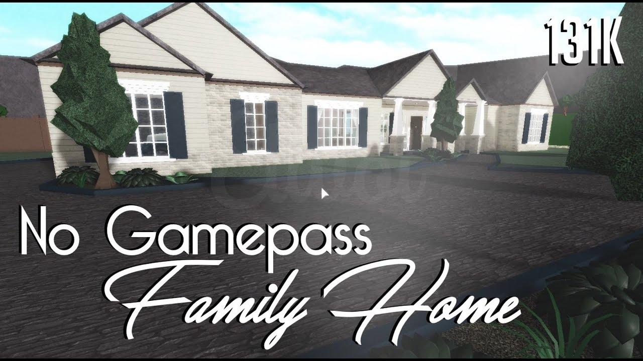 Roblox Bloxburg 131k No Gamepass Family Home Tour