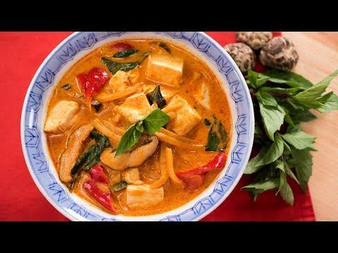 Vegan Thai Red Curry Recipe แกงเผ็ดมังสวิรัติ - Hot Thai Kitchen!