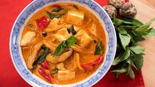 Vegan Thai Red Curry Recipe แกงเผ็ดมังสวิรัติ | Thai Recipes