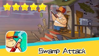 Swamp Attack EPISODE 3 Level 10 Walkthrough Defend Survive Attack! Recommend index five stars