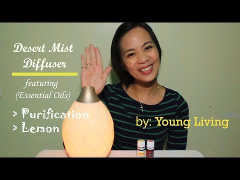 How to use the Desert Mist Diffuser🍃 featuring Purification🍃 & Lemon Essential Oils🍃