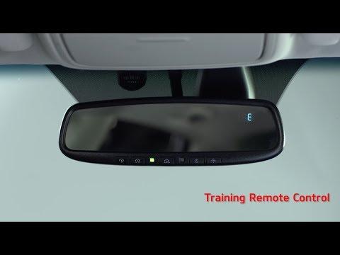 Homelink Rearview Mirror Setup Youtube