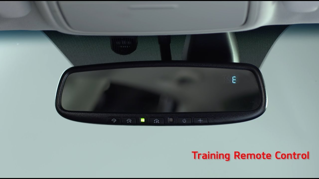Program Car Garage Door Opener >> Homelink Rearview Mirror Setup - YouTube