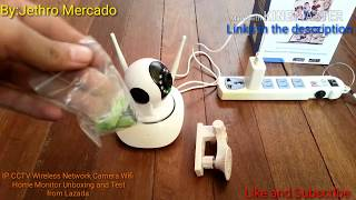 IP Camera CCTV Wireless Network Camera Wifi Home Monitor Unboxing and Test from Lazada