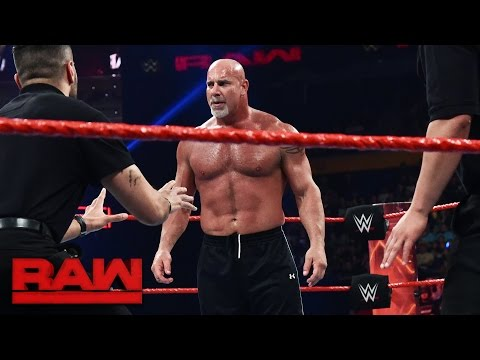 Thumbnail: Goldberg and Brock Lesnar meet face-to-face before Survivor Series: Raw, Nov. 14, 2016