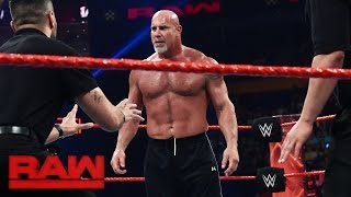 Download Goldberg and Brock Lesnar meet face-to-face before Survivor Series: Raw, Nov. 14, 2016 Mp3 and Videos