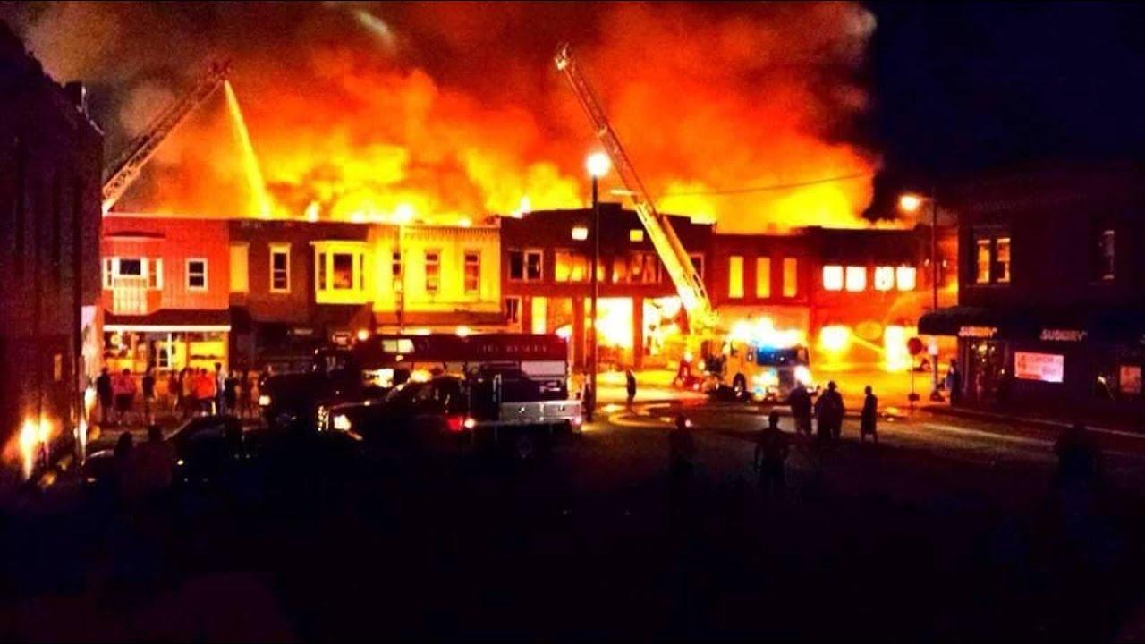 prophetstown main street fire youtube