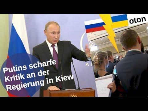 Putins scharfe Kritik an der Kiewer Regierung auf deutsch