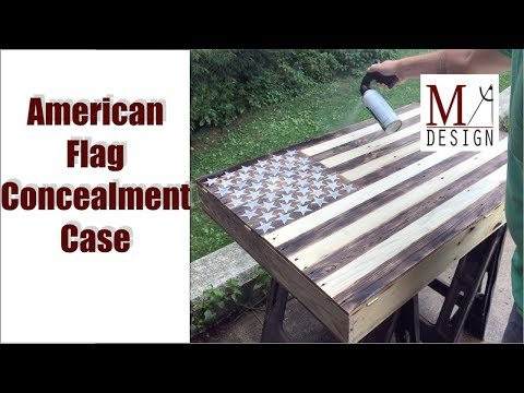 American Flag Concealment Case // Woodworking How To