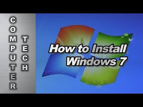 How to Install Windows 7 Operating System, Drivers & Folders