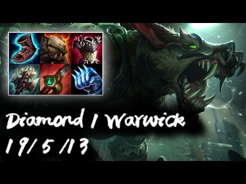 Diamond 1 Warwick Jungle vs Lee Sin | Korea High Elo