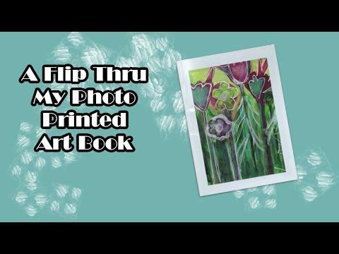 A Flip Thru My Photo Printed Art Book