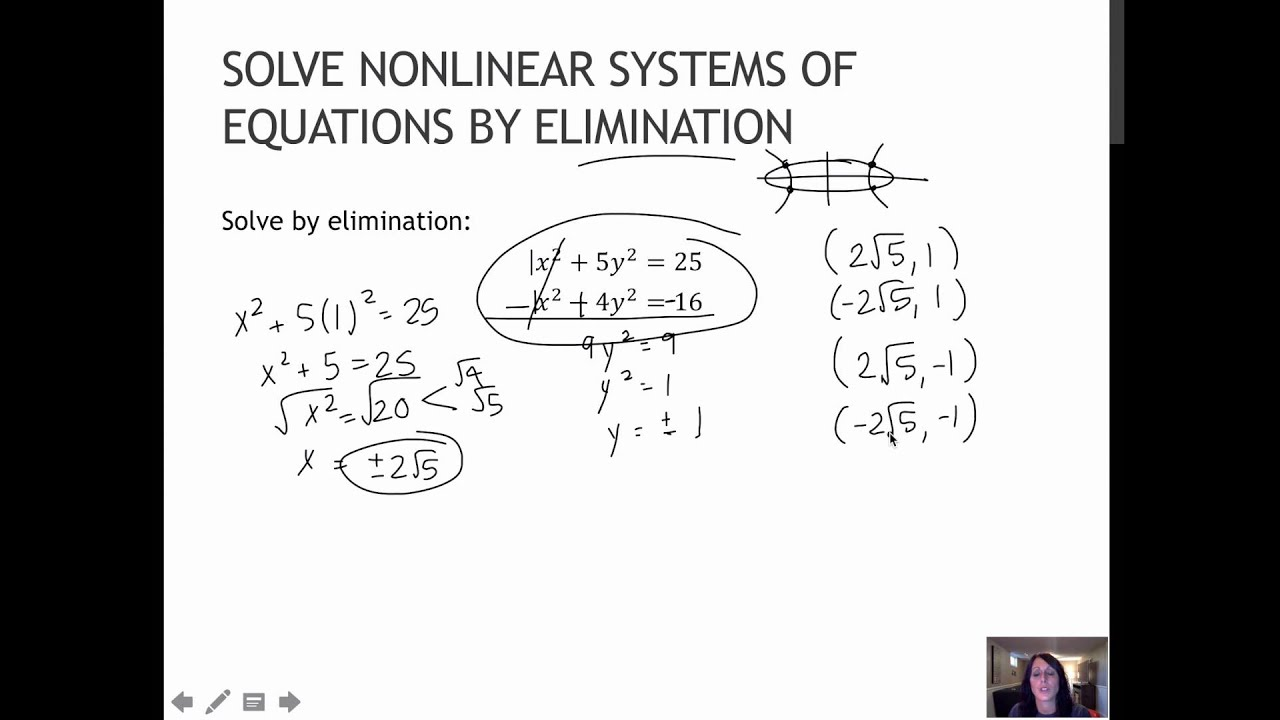 Solve The System Of Equations By Elimination