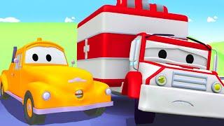 Tegljač Tom u Auto Gradu 🚗  Hitna Pomoć Amber 2 - Crtani sa kamionima za djecu